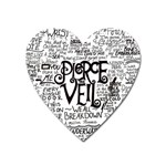 Pierce The Veil Music Band Group Fabric Art Cloth Poster Heart Magnet Front