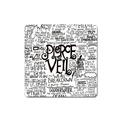Pierce The Veil Music Band Group Fabric Art Cloth Poster Square Magnet