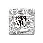 Pierce The Veil Music Band Group Fabric Art Cloth Poster Square Magnet Front