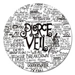 Pierce The Veil Music Band Group Fabric Art Cloth Poster Magnet 5  (Round) Front