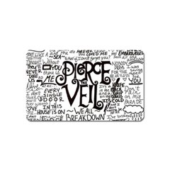 Pierce The Veil Music Band Group Fabric Art Cloth Poster Magnet (Name Card)