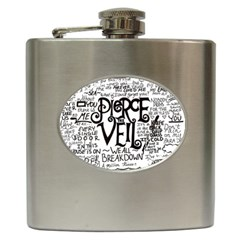 Pierce The Veil Music Band Group Fabric Art Cloth Poster Hip Flask (6 Oz)