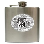 Pierce The Veil Music Band Group Fabric Art Cloth Poster Hip Flask (6 oz) Front