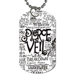 Pierce The Veil Music Band Group Fabric Art Cloth Poster Dog Tag (Two Sides) Back