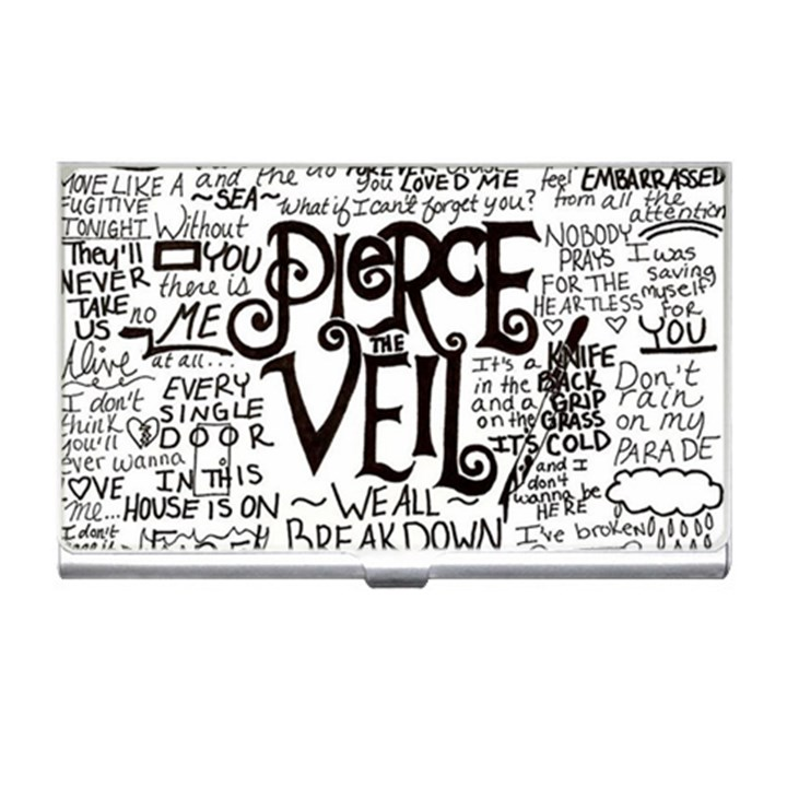 Pierce The Veil Music Band Group Fabric Art Cloth Poster Business Card Holders