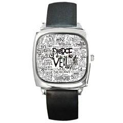 Pierce The Veil Music Band Group Fabric Art Cloth Poster Square Metal Watch