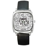 Pierce The Veil Music Band Group Fabric Art Cloth Poster Square Metal Watch Front