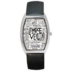 Pierce The Veil Music Band Group Fabric Art Cloth Poster Barrel Style Metal Watch