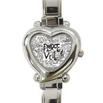 Pierce The Veil Music Band Group Fabric Art Cloth Poster Heart Italian Charm Watch Front