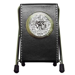 Pierce The Veil Music Band Group Fabric Art Cloth Poster Pen Holder Desk Clocks