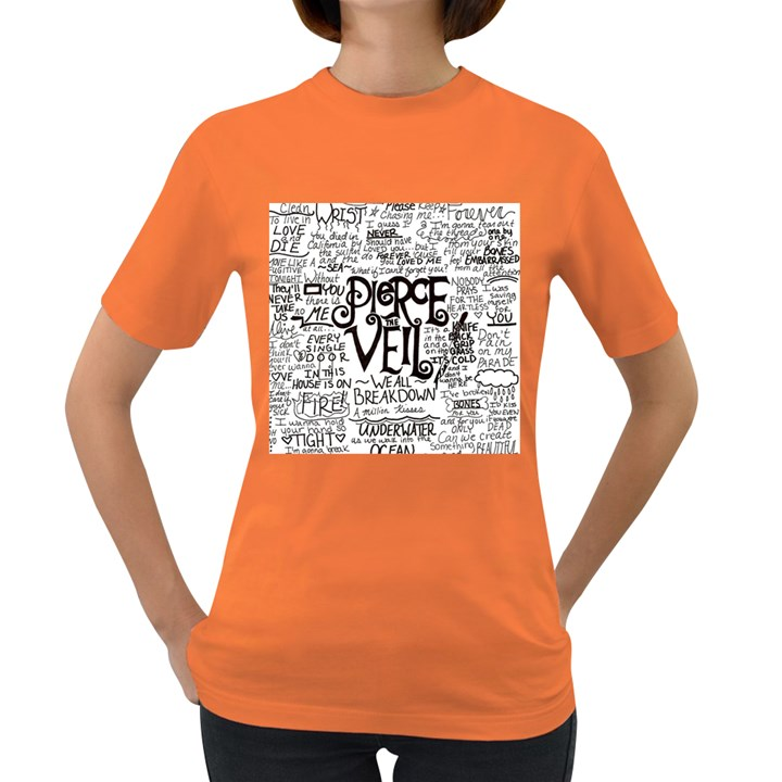 Pierce The Veil Music Band Group Fabric Art Cloth Poster Women s Dark T-Shirt