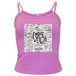 Pierce The Veil Music Band Group Fabric Art Cloth Poster Dark Spaghetti Tank Front