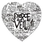 Pierce The Veil Music Band Group Fabric Art Cloth Poster Jigsaw Puzzle (Heart) Front