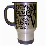 Pierce The Veil Music Band Group Fabric Art Cloth Poster Travel Mug (Silver Gray) Left