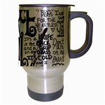 Pierce The Veil Music Band Group Fabric Art Cloth Poster Travel Mug (Silver Gray) Right