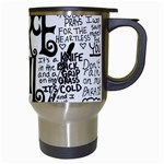 Pierce The Veil Music Band Group Fabric Art Cloth Poster Travel Mugs (White) Right