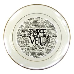 Pierce The Veil Music Band Group Fabric Art Cloth Poster Porcelain Plates
