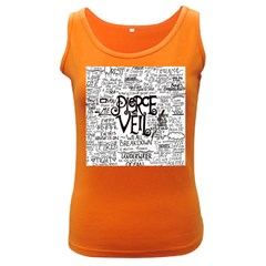 Pierce The Veil Music Band Group Fabric Art Cloth Poster Women s Dark Tank Top