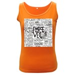 Pierce The Veil Music Band Group Fabric Art Cloth Poster Women s Dark Tank Top Front
