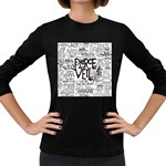 Pierce The Veil Music Band Group Fabric Art Cloth Poster Women s Long Sleeve Dark T-Shirts Front
