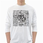 Pierce The Veil Music Band Group Fabric Art Cloth Poster White Long Sleeve T-Shirts Front