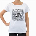 Pierce The Veil Music Band Group Fabric Art Cloth Poster Women s Loose-Fit T-Shirt (White) Front