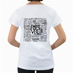Pierce The Veil Music Band Group Fabric Art Cloth Poster Women s Loose-Fit T-Shirt (White) Back