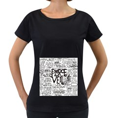 Pierce The Veil Music Band Group Fabric Art Cloth Poster Women s Loose-Fit T-Shirt (Black)