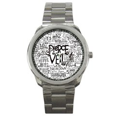 Pierce The Veil Music Band Group Fabric Art Cloth Poster Sport Metal Watch