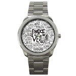 Pierce The Veil Music Band Group Fabric Art Cloth Poster Sport Metal Watch Front