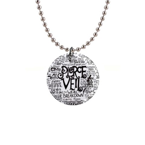 Pierce The Veil Music Band Group Fabric Art Cloth Poster Button Necklaces