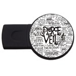 Pierce The Veil Music Band Group Fabric Art Cloth Poster USB Flash Drive Round (4 GB)  Front