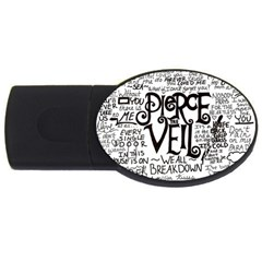 Pierce The Veil Music Band Group Fabric Art Cloth Poster Usb Flash Drive Oval (4 Gb)