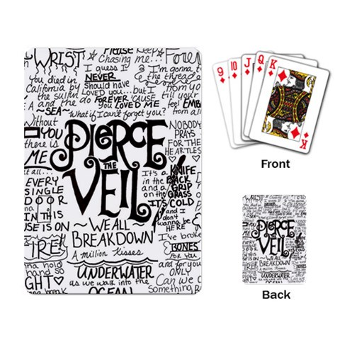 Pierce The Veil Music Band Group Fabric Art Cloth Poster Playing Card
