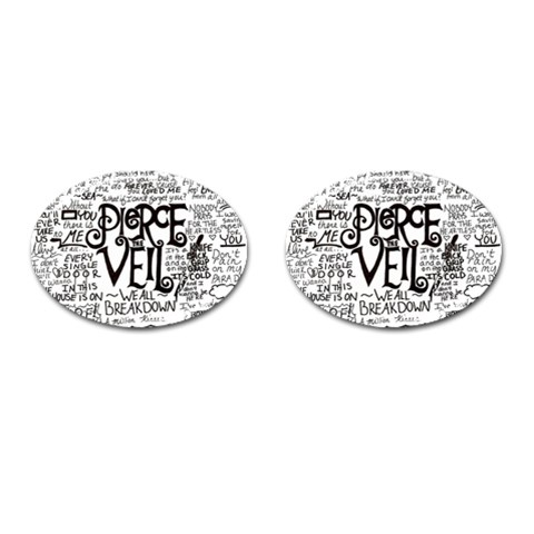 Pierce The Veil Music Band Group Fabric Art Cloth Poster Cufflinks (Oval)