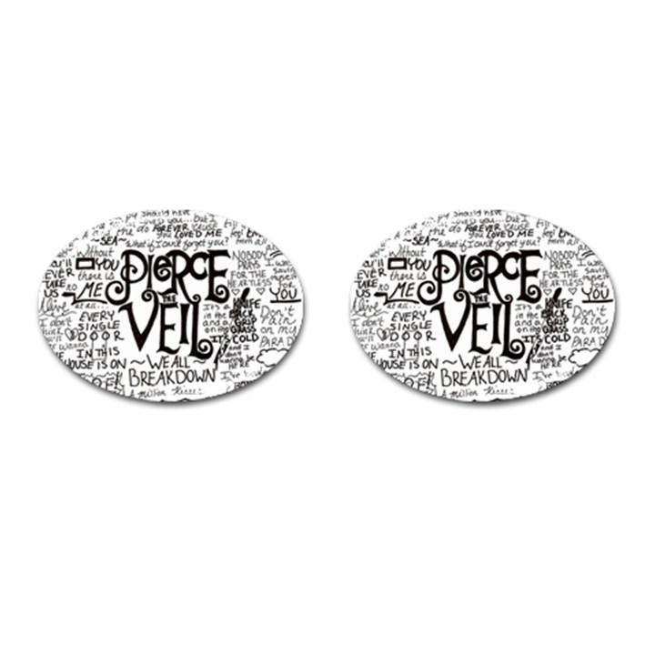 Pierce The Veil Music Band Group Fabric Art Cloth Poster Cufflinks (Oval)