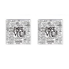 Pierce The Veil Music Band Group Fabric Art Cloth Poster Cufflinks (Square)