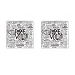 Pierce The Veil Music Band Group Fabric Art Cloth Poster Cufflinks (Square) Front