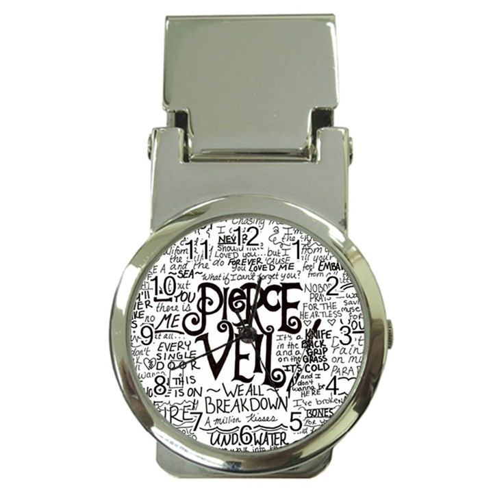 Pierce The Veil Music Band Group Fabric Art Cloth Poster Money Clip Watches