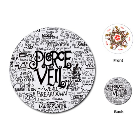 Pierce The Veil Music Band Group Fabric Art Cloth Poster Playing Cards (Round)