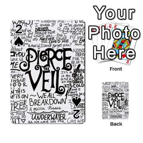 Pierce The Veil Music Band Group Fabric Art Cloth Poster Playing Cards 54 Designs