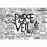 Pierce The Veil Music Band Group Fabric Art Cloth Poster Collage Prints 18 x12 Print - 5