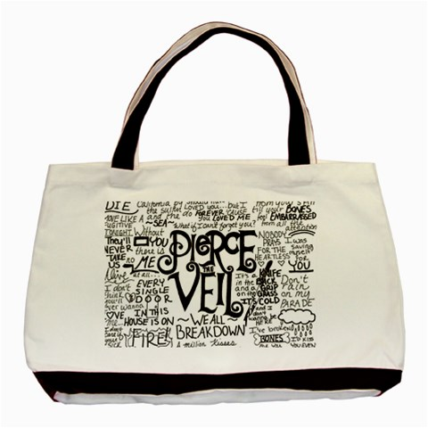 Pierce The Veil Music Band Group Fabric Art Cloth Poster Basic Tote Bag