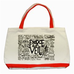 Pierce The Veil Music Band Group Fabric Art Cloth Poster Classic Tote Bag (red)