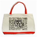 Pierce The Veil Music Band Group Fabric Art Cloth Poster Classic Tote Bag (Red) Front