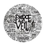 Pierce The Veil Music Band Group Fabric Art Cloth Poster Round Ornament (Two Sides)  Back