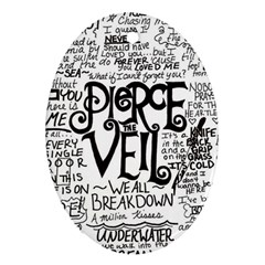 Pierce The Veil Music Band Group Fabric Art Cloth Poster Oval Ornament (two Sides)