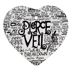 Pierce The Veil Music Band Group Fabric Art Cloth Poster Heart Ornament (2 Sides)