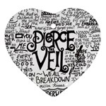 Pierce The Veil Music Band Group Fabric Art Cloth Poster Heart Ornament (2 Sides) Front