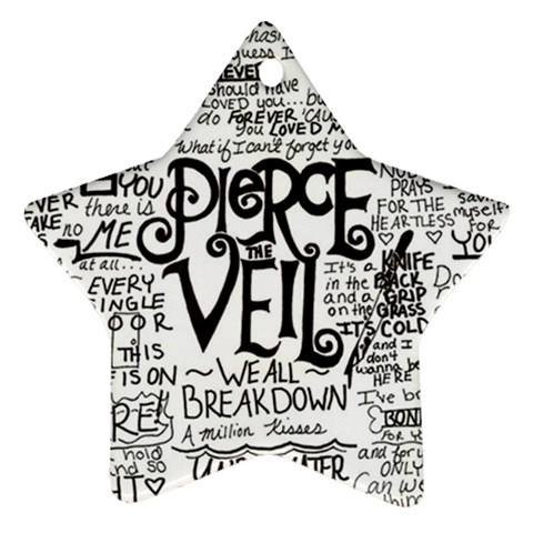 Pierce The Veil Music Band Group Fabric Art Cloth Poster Star Ornament (Two Sides)